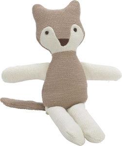 Amadeus - peluche renard brun tricot - Peluche
