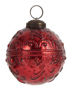 IB Laursen - wavy pattern red - Bola De Navidad