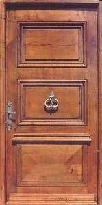 Entreprise Provencale De Menuiserie - châteauvallon - Puerta Descansillo Maciza