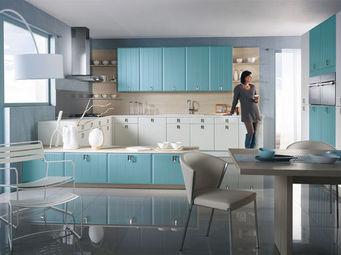 Mobalpa - scylia bleu oc�an et blanc - Cocina Equipada