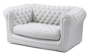 BLOFIELD - 2-seater stone white - Sofá Hinchable