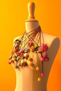 LA BOCOQUE - rosas - Collar