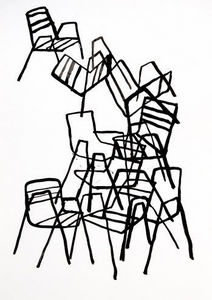 Estudio Mariscal - sillas 2 - Dibujo Con Tinta
