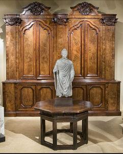 FOSTER-GWIN - burl two-piece cabinet - Bargueño