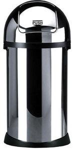 Linton Metalware - chrome steel bin - Cubo De Basura De Cocina