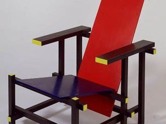 Cassina - 635 red and blue - Sill�n Bajo