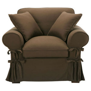 Maisons du monde - fauteuil coton chocolat butterfly - Sillón