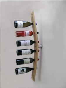 Douelledereve - porte bouteilles en chêne finition naturelle 8x5x9 - Botellero