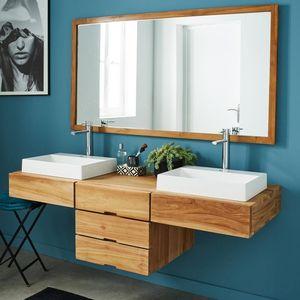 BOIS DESSUS BOIS DESSOUS - meuble de salle de bain en bois de teck suspendu - Mueble De Cuarto De Baño