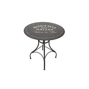 Mathi Design - table ronde bistro noire - Mesa De Bar