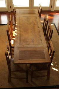 Matahati - table & banc rustique - Mesa Extensible