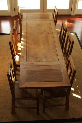 Matahati - Mesa extensible-Matahati-Table & banc rustique