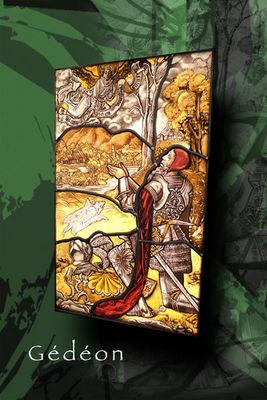 Atelier 1..2..3 vitrail - Vidriera-Atelier 1..2..3 vitrail-Gédéon