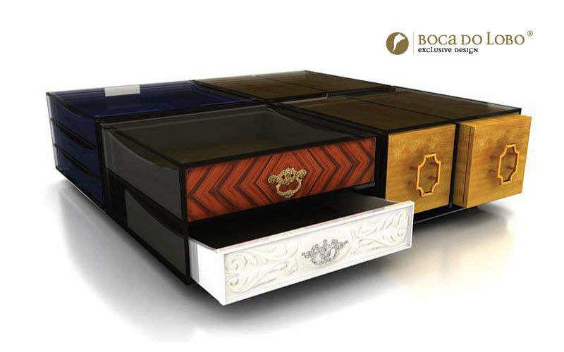 BOCA DO LOBO Tavolino soggiorno con cassetti Tavolini / Tavoli bassi Tavoli e Mobili Vari  |