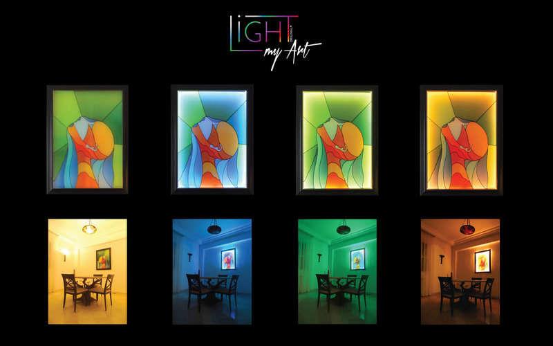 LIGHT MY ART Quadro contemporaneo Pittura Arte   