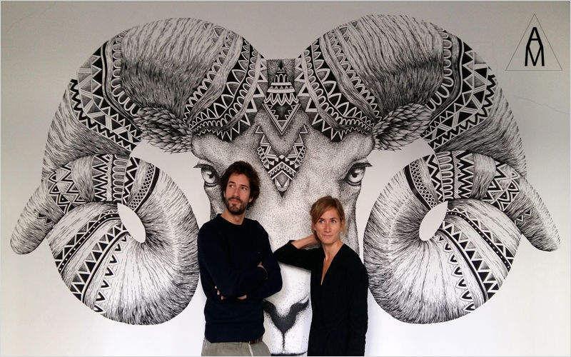 ALEX ET MARINE Affresco Decorazioni murali Ornamenti  |