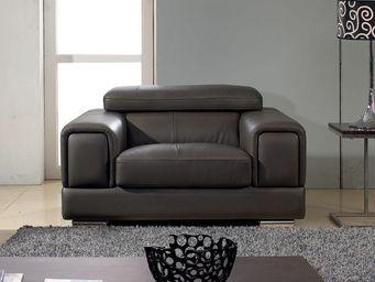 WHITE LABEL - fauteuil cuir lima - Poltrona