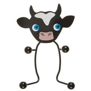 Present Time - portemanteau vache métal noir - Appendiabiti Da Terra