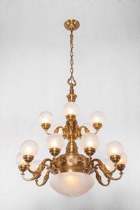 PATINAS - pecs 15 armed chandelier - Lampadario