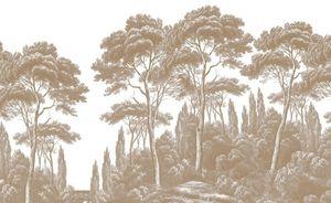 Ananbô - pins et cyprés - Carta Da Parati Panoramica