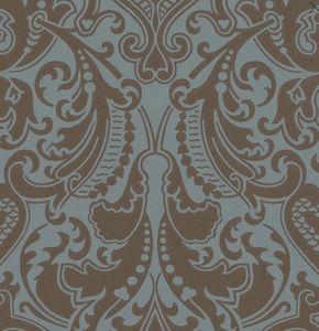 Ralph Lauren Home - gwynne damask - peacock - Carta Da Parati