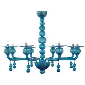 ALAN MIZRAHI LIGHTING - wm118 aquamarine murano - Candelabro