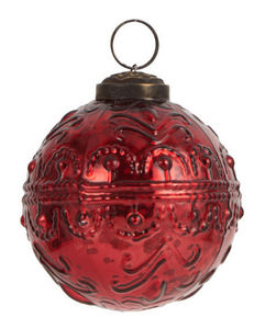 IB Laursen - wavy pattern red - Palla Di Natale