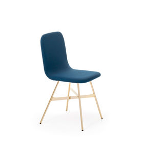 COLE - tria simple gold chair upholstered - Sedia