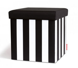 Remember - black & white - Bauletto Pouf