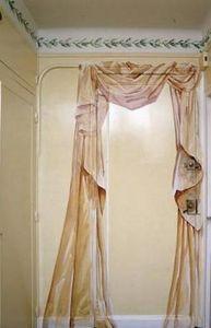 Arpagian Décor Mural - porte d'entrée avec un drapé - Trompe L'oeil