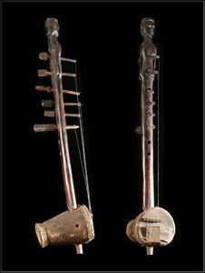 Arts Africains - harpe luth kora - Liuto