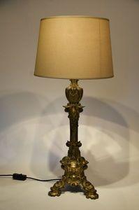 3details - ormolu stick table lamp (lampe torchère) - Portafiaccole