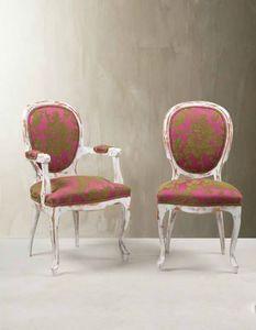 Julio Sanz Decoracion - silla diva 190 - Sedia Medaglione