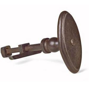 FERRURES ET PATINES - bouton bascule ovale en fer vieilli - Pomello Per Mobile / Armadio