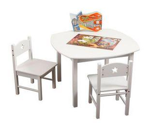 Miliboo - etoile table + 2 chaises - Tavolino Bambino