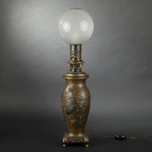Expertissim - lampe en bronze napoléon iii - Lampada A Petrolio