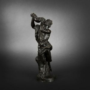 Expertissim - satyre en bronze d'après clodion - Statuetta