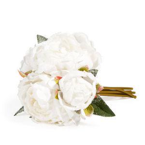 Maisons du monde - bouquet pivoine neigeux - Fiore Artificiale