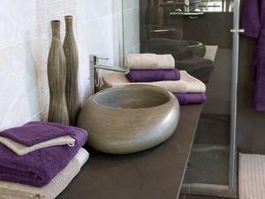 BLANC CERISE - drap de douche - coton peigné 600 g/m² - uni - Guanto Da Bagno