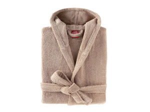 BLANC CERISE - peignoir capuche - coton peigné 450 g/m² sable - Accappatoio