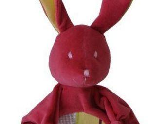 Les Toiles Du Soleil - doudou lapin ceret cerise - Pupazzetti