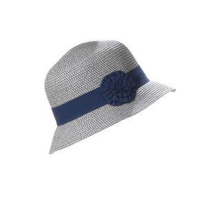 WHITE LABEL - chapeau cloche femme paille pliable - Cappello