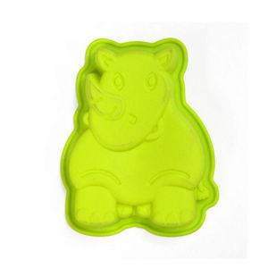 WHITE LABEL - moule à gâteaux animaux de la jungle rhinocéros - Stampo Per Dolci