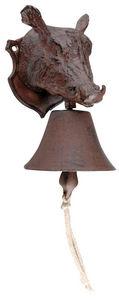 BEST FOR BOOTS - cloche de jardin sanglier en fonte rouille 10,7x12 - Campanella Da Esterno