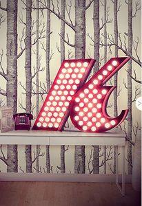 DELIGHTFULL - k - Lettera Decorativa