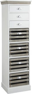 Aubry-Gaspard - commode 7 tiroirs en medium - Cassettiera Settimanale