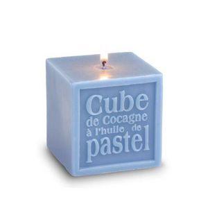 Graine De Pastel - bougie de cocagne cube à lextrait de pastel - grai - Candela Profumata