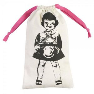 La Chaise Longue - pochette à linge paper dolls rose - Sacco Per Biancheria