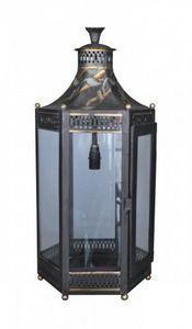Demeure et Jardin - lanterne électrifiée en tôle peinte - Lanterna Da Esterno