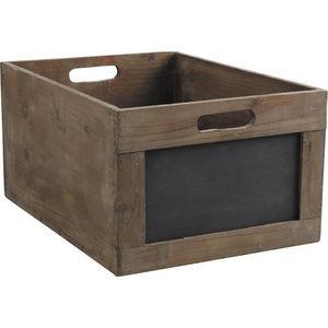 Aubry-Gaspard - caisse de rangement en bois avec ardoise - Cassettiera Sistematutto